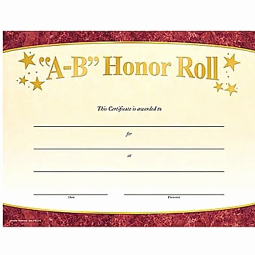 Free Printable Honor Roll Certificates Unique 10 Best Of Honor Roll Certificates Free Printable