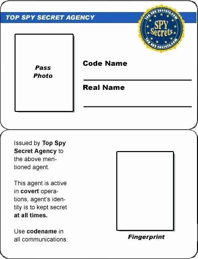 spy id card
