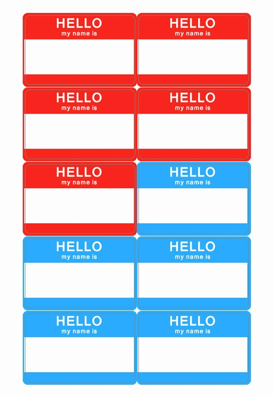 Free Printable Id Badge Template Awesome Name Tag Template