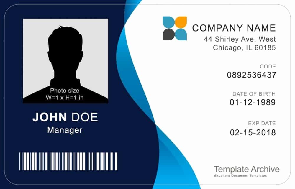 Free Printable Id Badge Template Beautiful 16 Id Badge & Id Card Templates Free Template Archive
