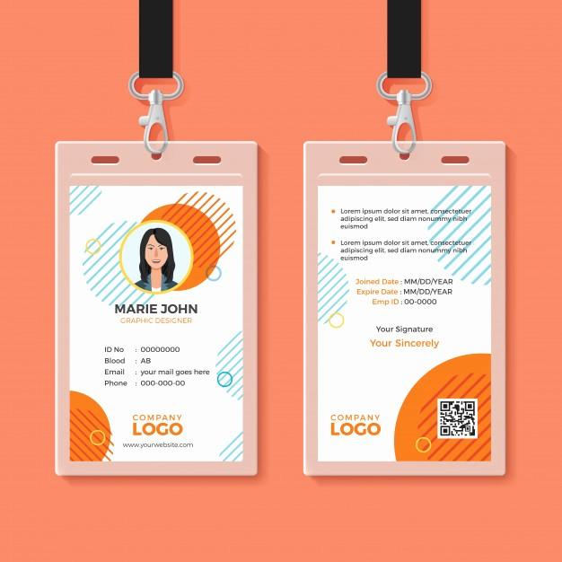 Free Printable Id Badge Template Beautiful Multipurpose Office Id Card Template Vector