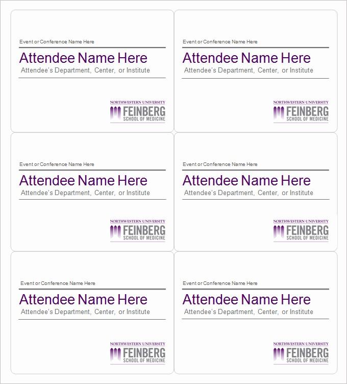 Free Printable Id Badge Template Beautiful Name Tag Template