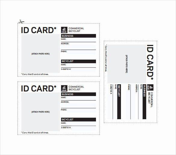 Free Printable Id Badge Template Best Of 64 Amazing Id Card Templates to Download