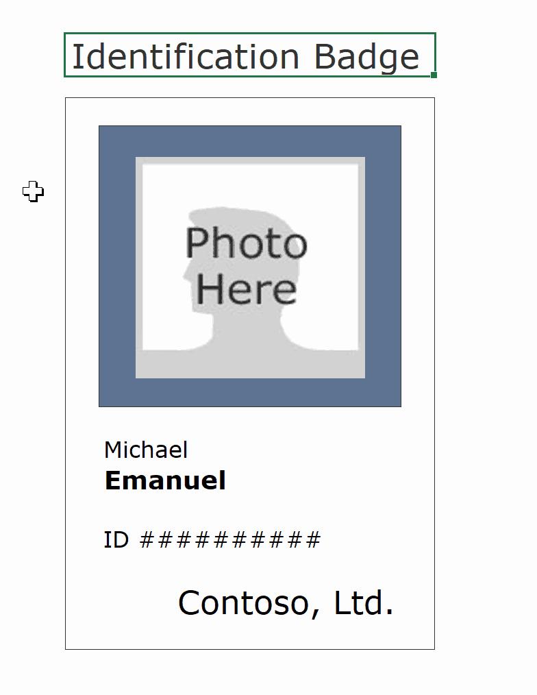 Free Printable Id Badge Template Inspirational 16 Id Badge & Id Card Templates Free Template Archive