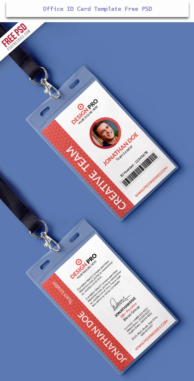 Free Printable Id Badge Template Inspirational 30 Creative Id Card Design Examples with Free Download