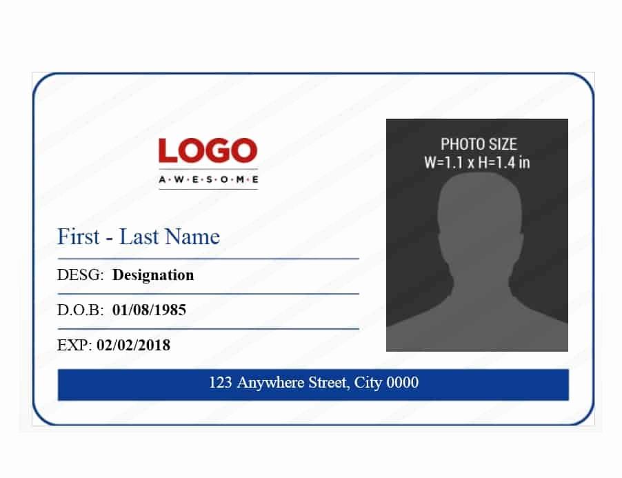 Free Printable Id Badge Template Luxury 50 Id Badge & Id Card Templates Free Template Archive