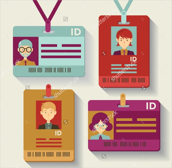Free Printable Id Badge Template Luxury Id Badge Templates Free Sample Example format Download