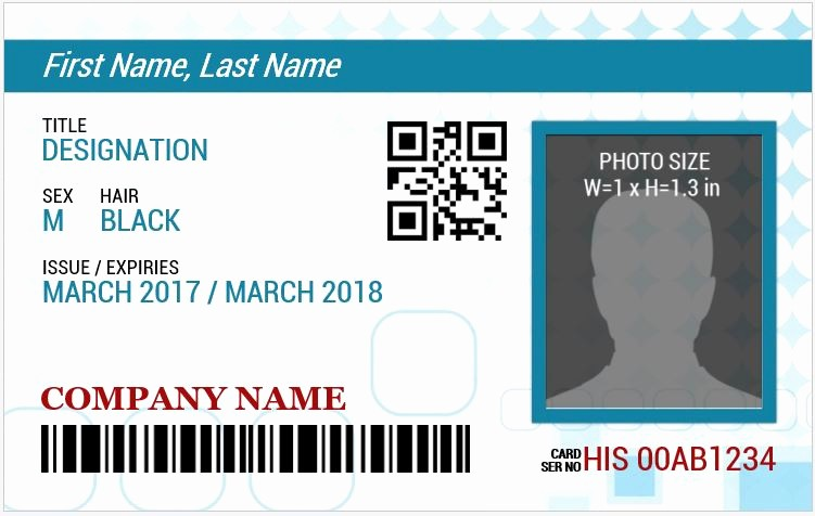 Free Printable Id Badge Template New Ms Word Id Badge Sample Template