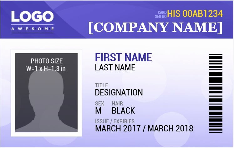 Free Printable Id Badge Template New Ms Word Id Badge Templates for All Professionals