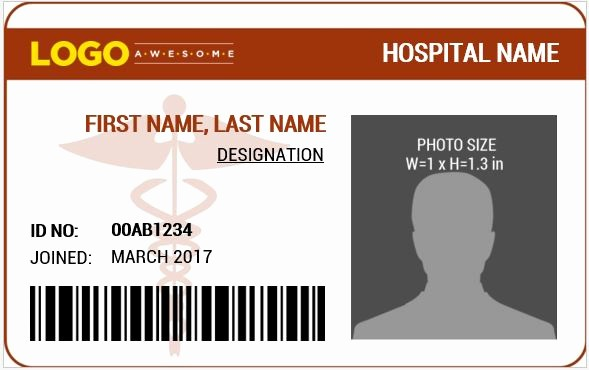 Free Printable Id Badge Template Unique Doctor S Id Badge Templates for Ms Word
