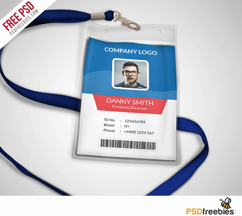 Free Printable Id Badge Template Unique Multipurpose Pany Id Card Free Psd Template