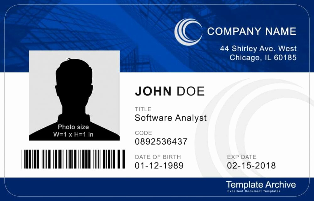Free Printable Id Card Template Awesome 16 Id Badge & Id Card Templates Free Template Archive