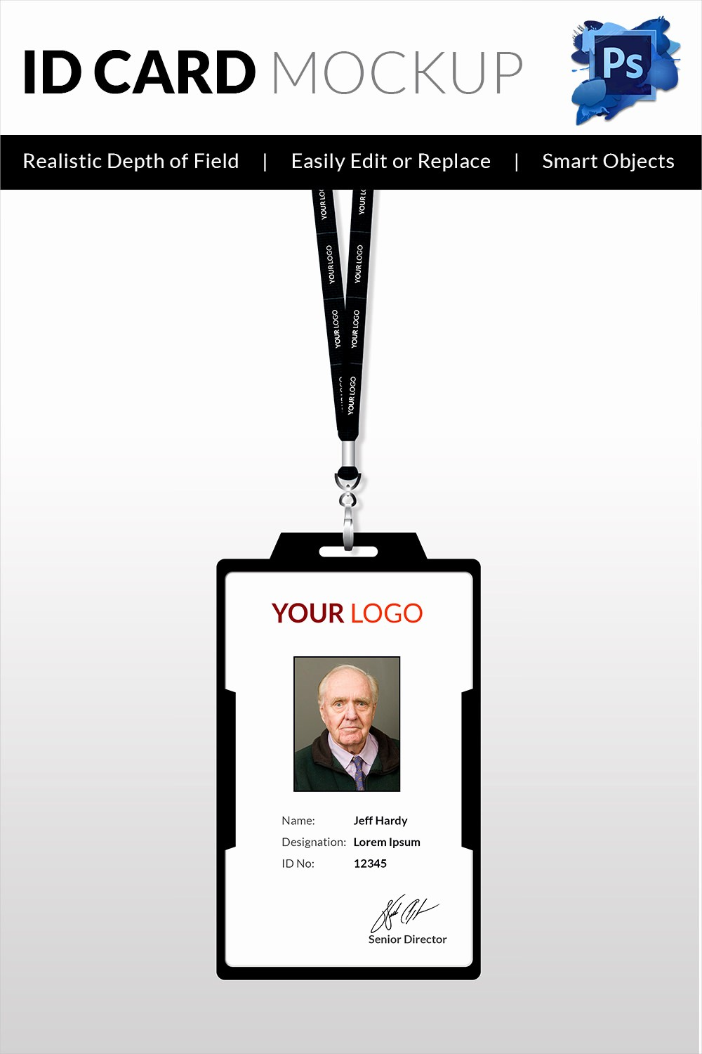 Free Printable Id Card Template Awesome 18 Id Card Templates – Free Psd Documents Download