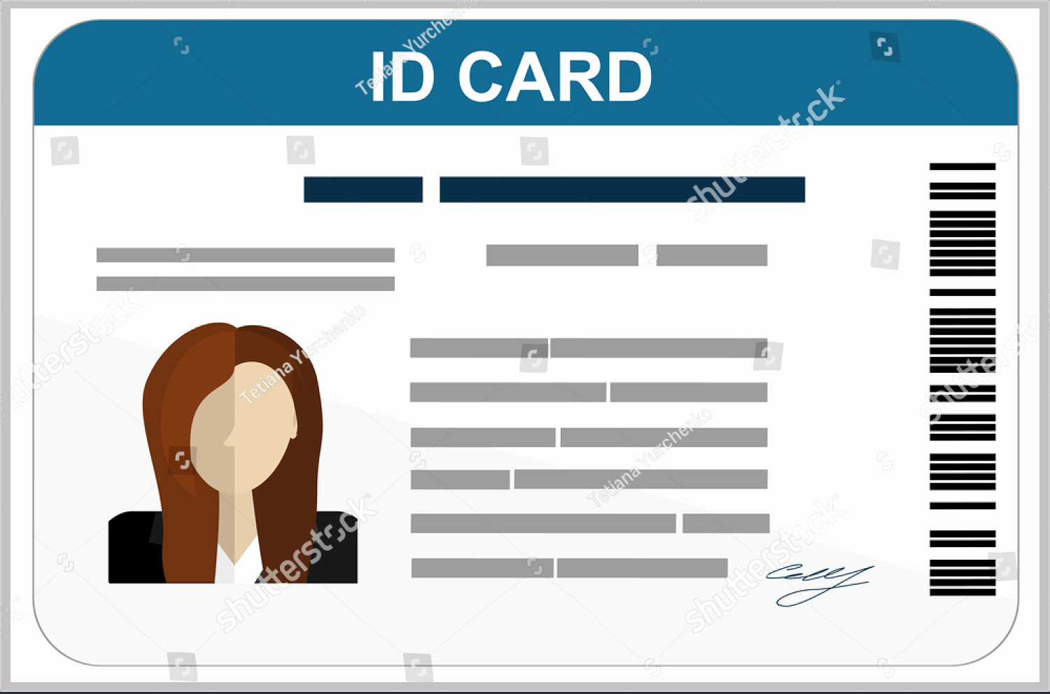 Free Printable Id Card Template Beautiful 34 Professional Id Card Designs Psd Eps format