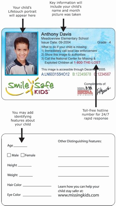 Free Printable Id Card Template Beautiful Kids Id Card Template Id…