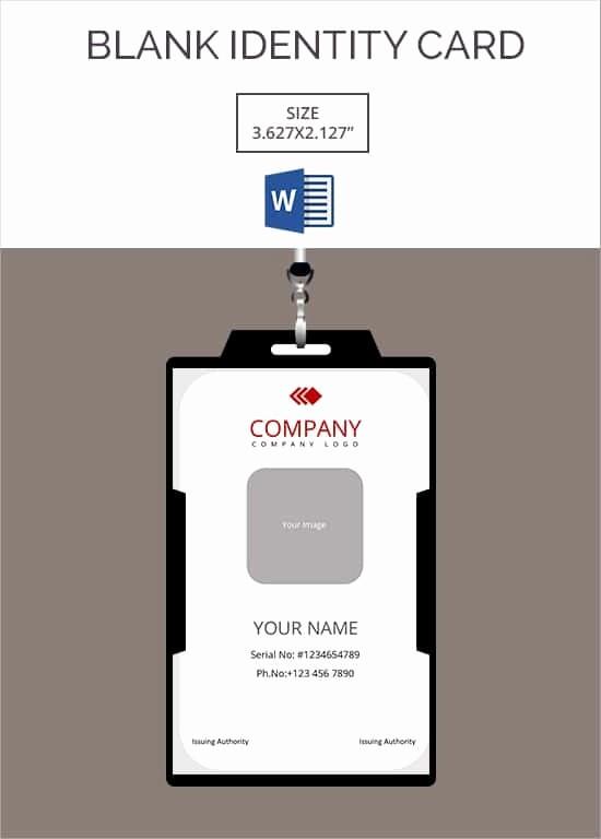 Free Printable Id Card Template Elegant Id Card Template