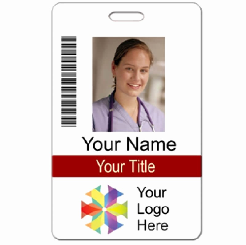 Free Printable Id Card Template Fresh Vertical Name Badge Template Invitation Template