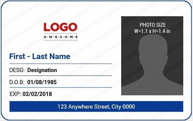 Free Printable Id Card Template Inspirational 10 Best Ms Word Id Badge Templates for Fice