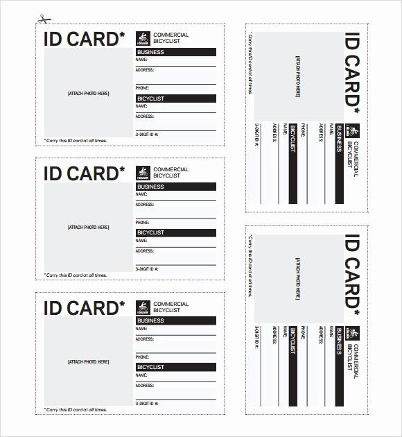 Free Printable Id Card Template Inspirational Id Badges Printable Bing Images