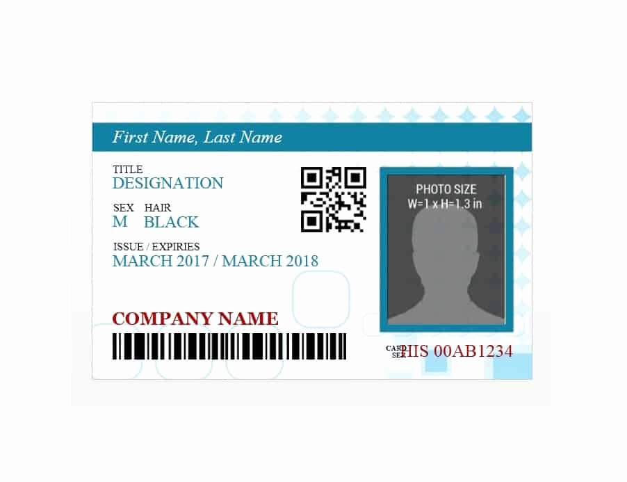 Free Printable Id Card Template Lovely 50 Id Badge & Id Card Templates Free Template Archive