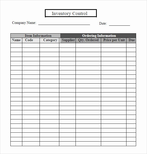 Free Printable Inventory Sheets Pdf Awesome 6 Inventory Tracking – Samples Examples Templates
