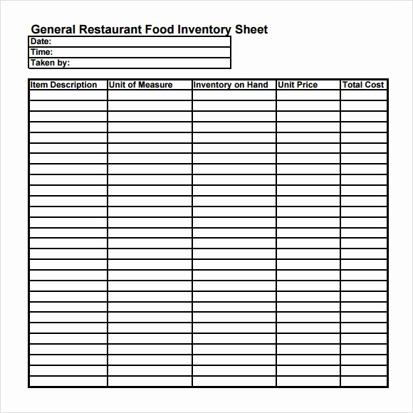 Free Printable Inventory Sheets Pdf Elegant Food Inventory Template 9 Download Free Document In Pdf