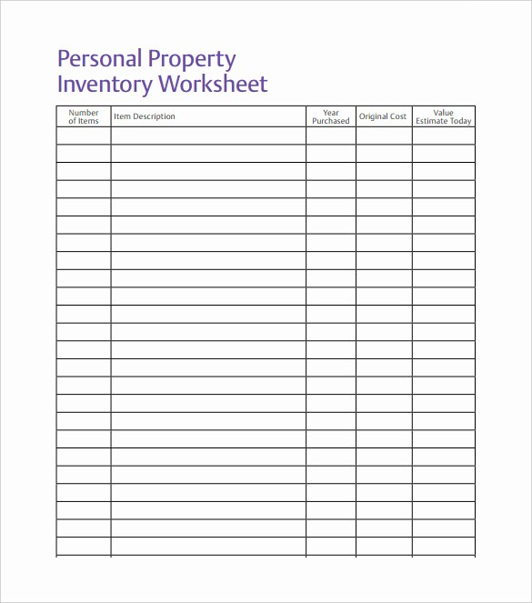 Free Printable Inventory Sheets Pdf Lovely Inventory Spreadsheet Template 48 Free Word Excel
