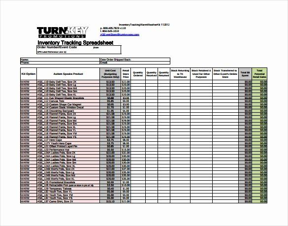 Free Printable Inventory Sheets Pdf Luxury 10 Tracking Spreadsheet Templates Doc Pdf