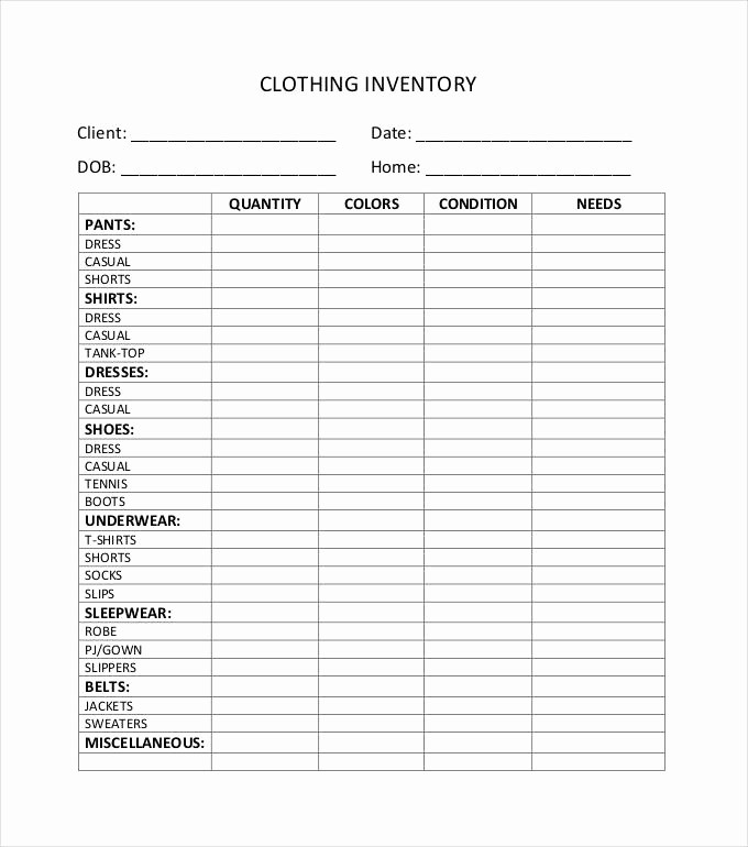 Free Printable Inventory Sheets Pdf New 10 Inventory Sheet Templates