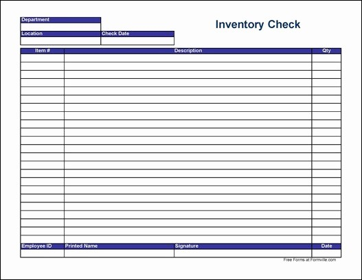 Free Printable Inventory Sheets Pdf New Free Physical Inventory Check Sheet Wide From formville