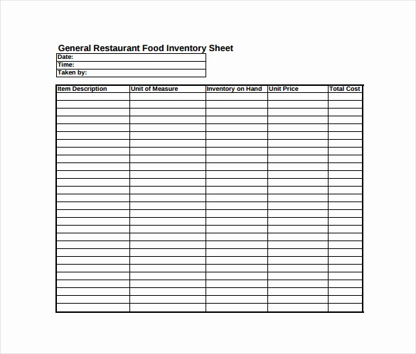 Free Printable Inventory Sheets Pdf Unique Inventory Sheet Template 14 Free Excel Pdf Documents