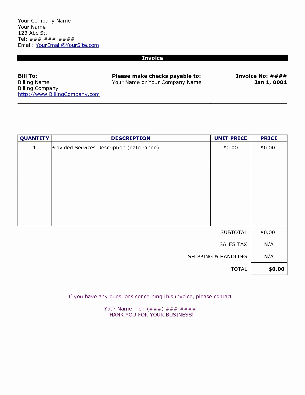 Free Printable Invoice Templates Word Luxury Word Document Invoice Template