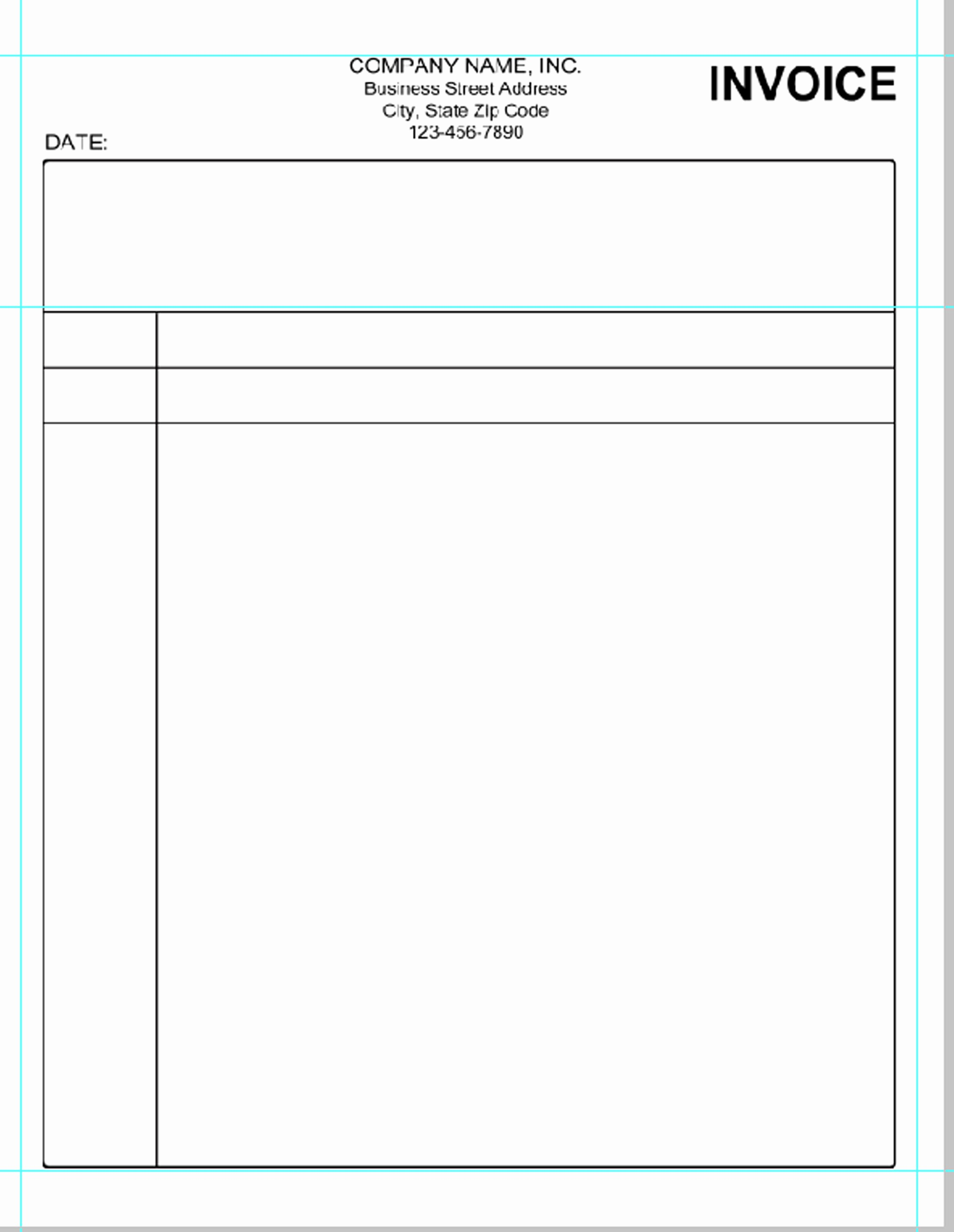 Free Printable Invoice Templates Word Unique Simple Invoice Template Pdf