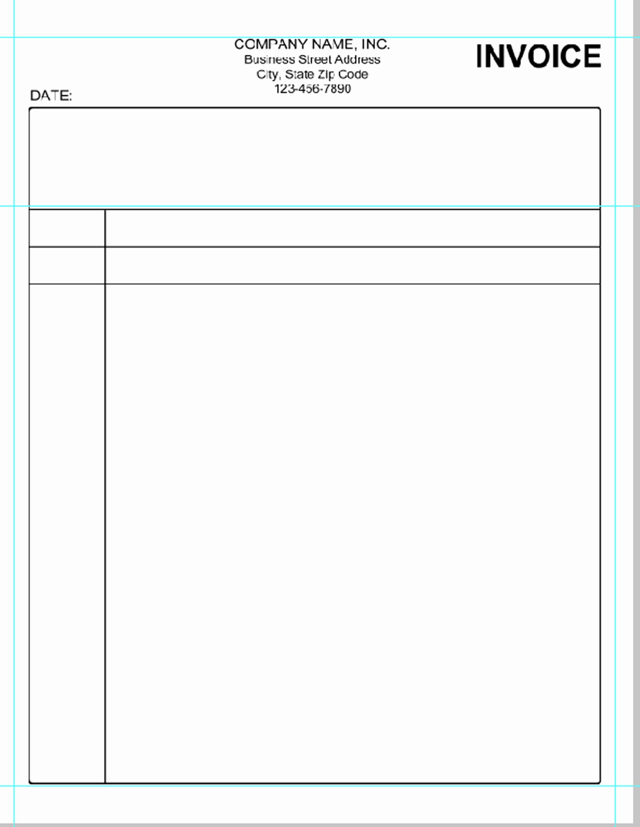 Free Printable Invoice Templates Word Unique Simple Invoice Template Pdf