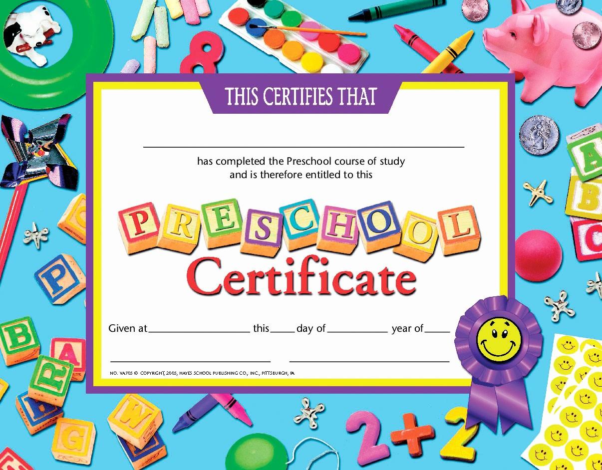 Free Printable Kindergarten Certificate Templates Awesome Printable Preschool Diploma Certificate 26 Certificates