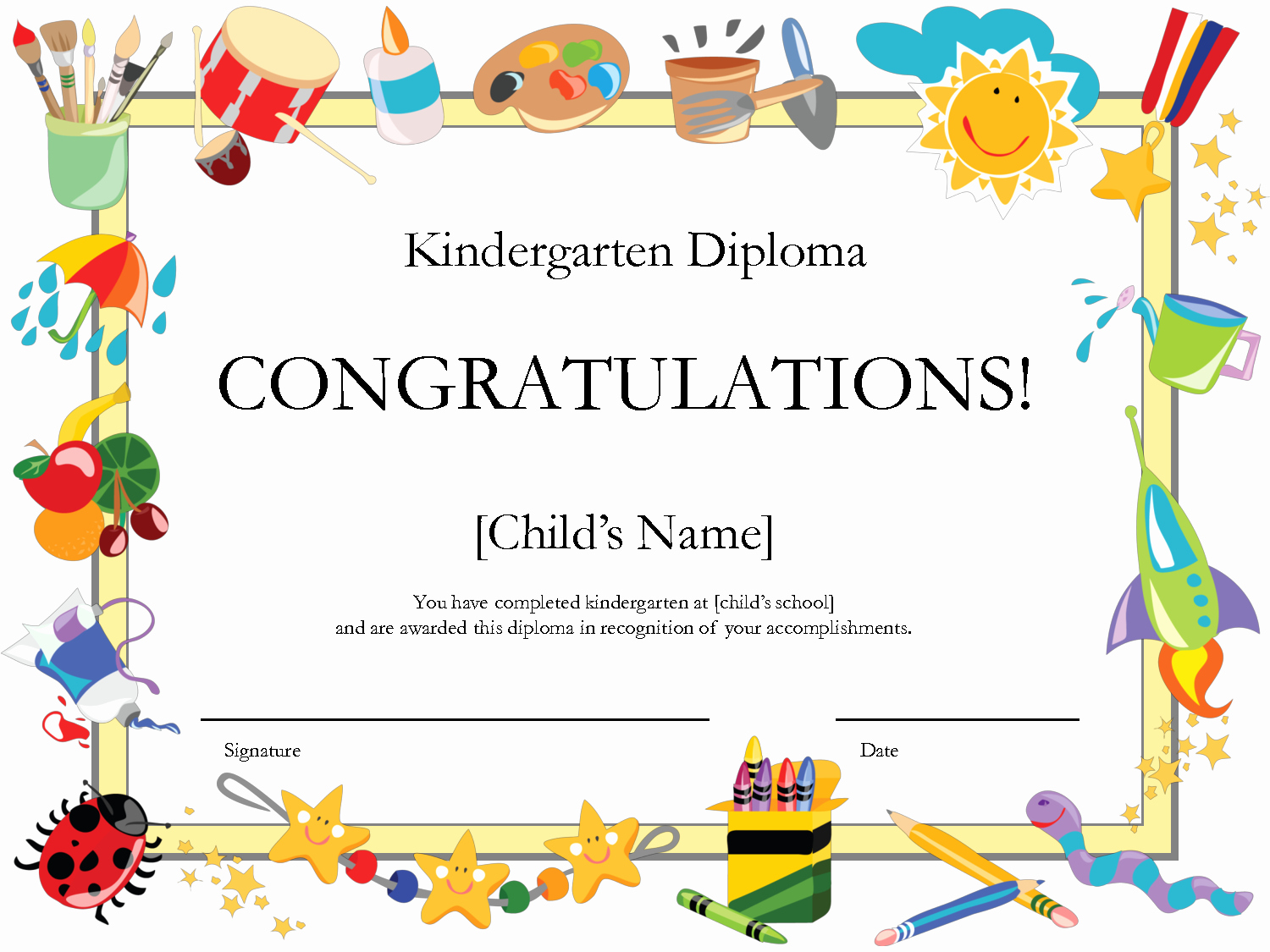 Free Printable Kindergarten Certificate Templates Beautiful 8 Best Of Free Printable Graduation Certificates