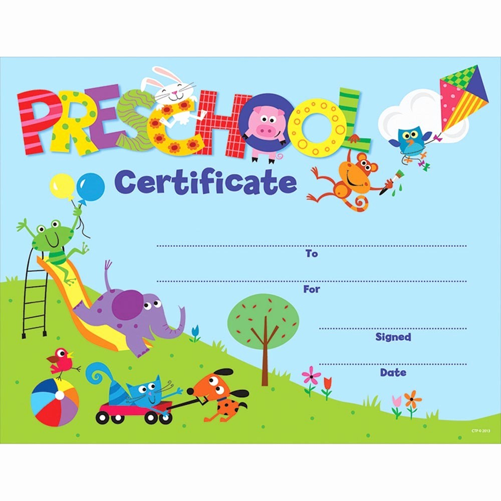 Free Printable Kindergarten Certificate Templates Best Of Preschool Certificate Awards Ctp1398