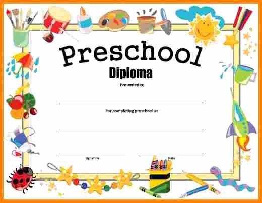 Free Printable Kindergarten Certificate Templates Elegant Free Printable Preschool Graduation Certificates