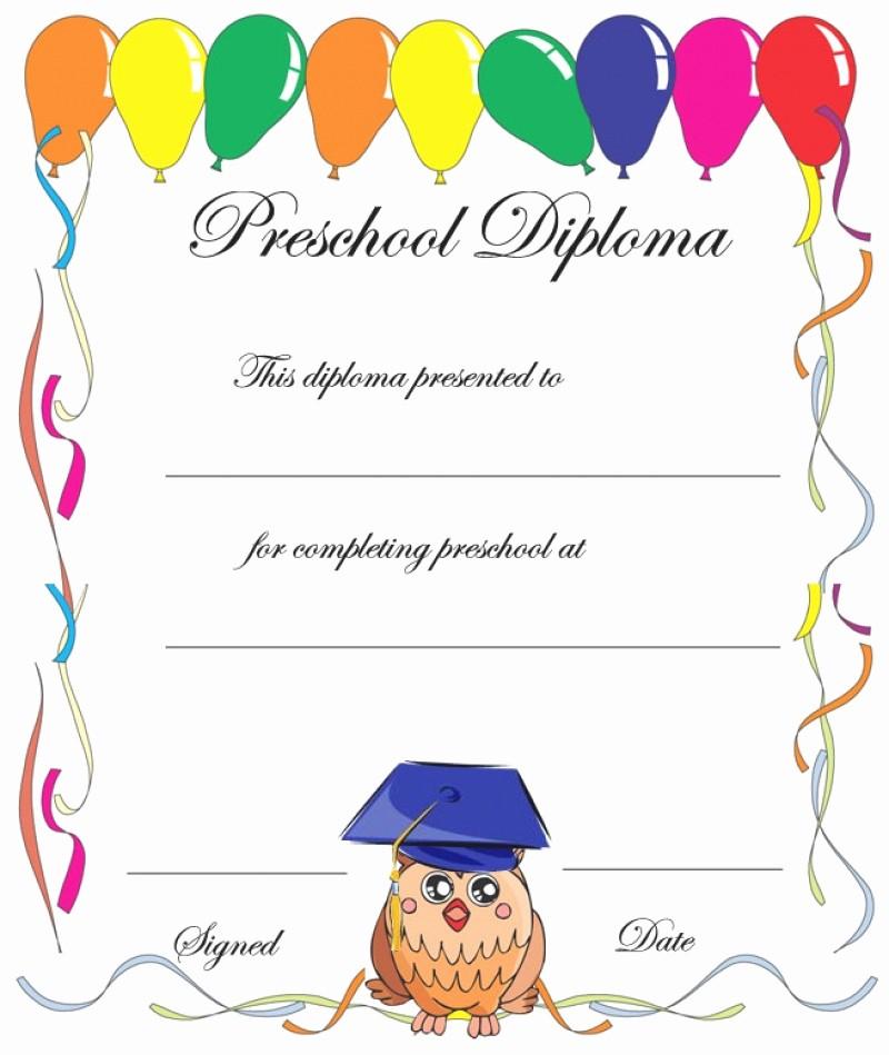 Free Printable Kindergarten Certificate Templates Fresh 11 Preschool Certificate Templates Pdf