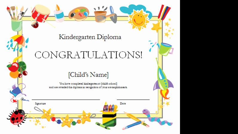 Free Printable Kindergarten Certificate Templates Fresh Kindergarten Diploma Certificate