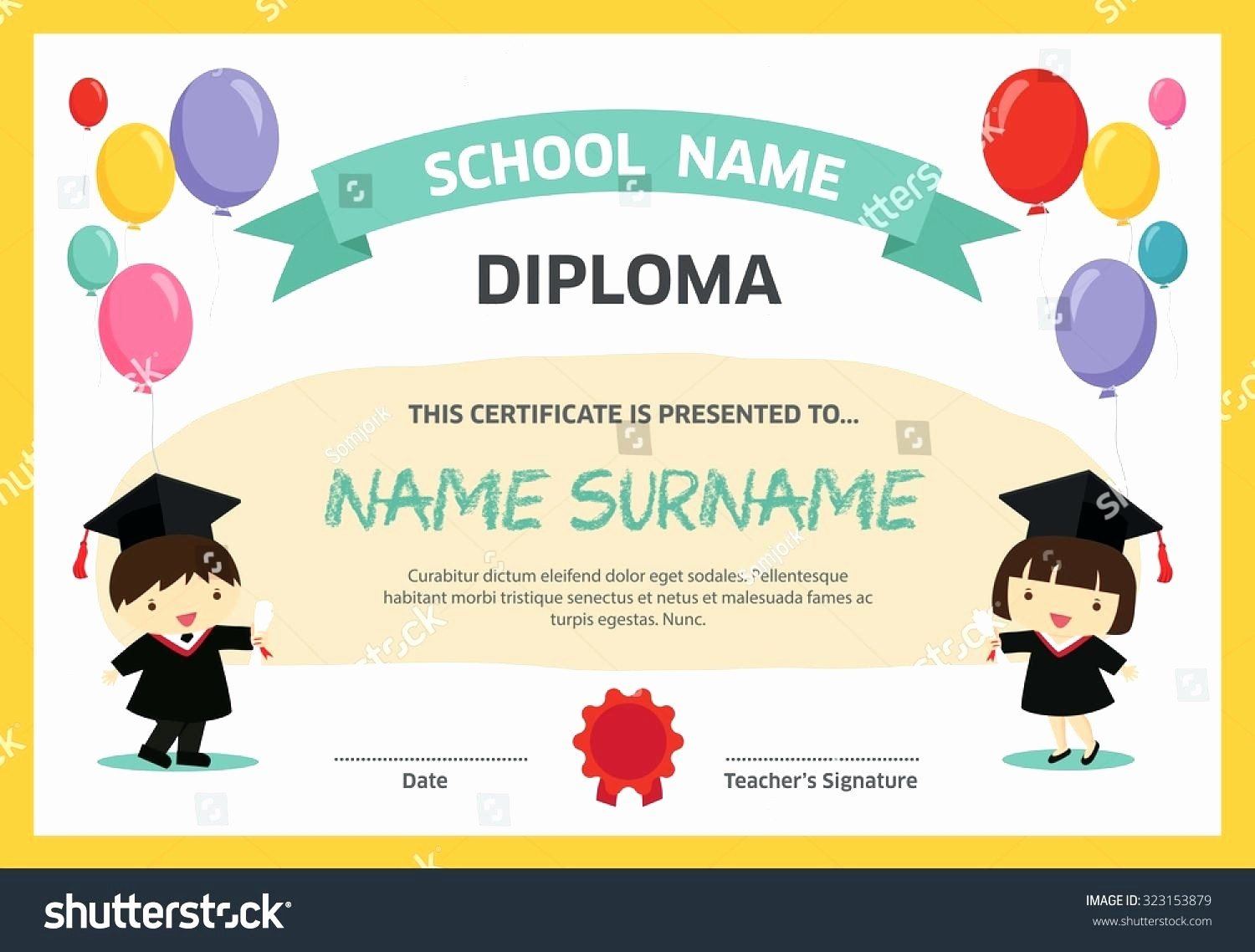 Free Printable Kindergarten Certificate Templates Fresh Template Preschool Graduation Certificate Template
