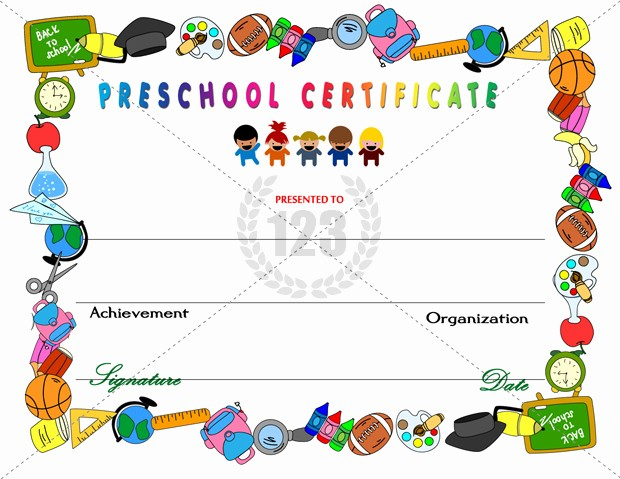 Free Printable Kindergarten Certificate Templates Fresh Templates Clipart Kid Certificate Pencil and In Color