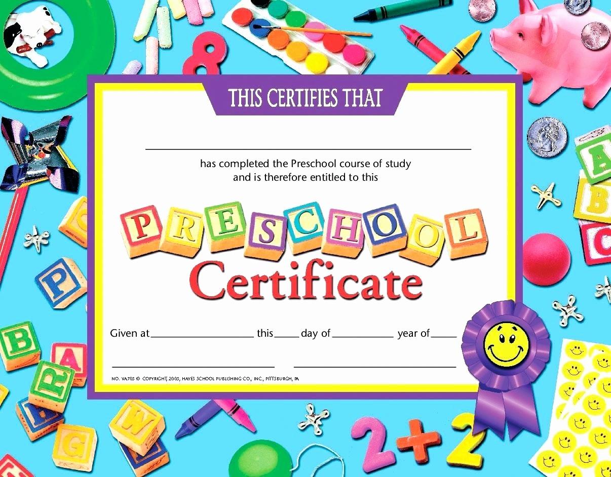 Free Printable Kindergarten Certificate Templates Inspirational Template Math Certificate Template Preschool Graduation