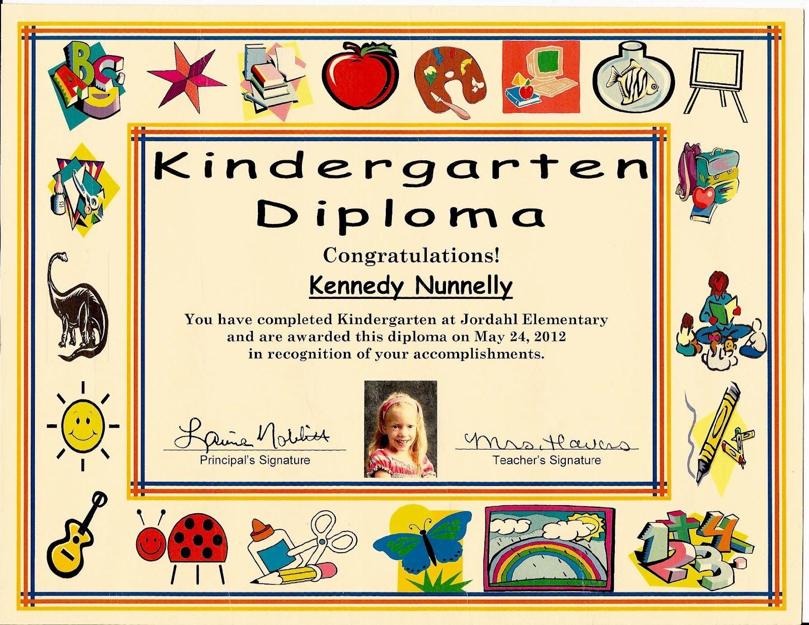 Free Printable Kindergarten Certificate Templates Lovely Kindergarten Graduation Certificate