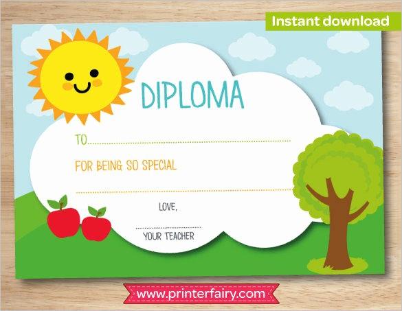 Free Printable Kindergarten Certificate Templates Luxury Certificate Templates