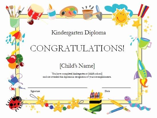 Free Printable Kindergarten Certificate Templates Unique Kindergarten Diploma Certificate Templates Fice