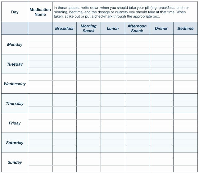 Free Printable Medication Log Template Beautiful Printable Daily Animal Pill Chart Template