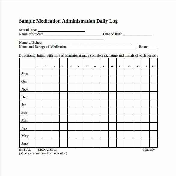 Free Printable Medication Log Template Elegant 16 Sample Daily Log Templates – Pdf Doc