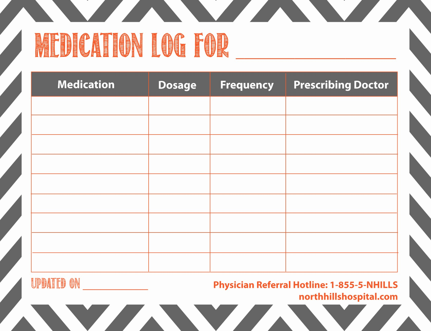 Free Printable Medication Log Template Fresh Free Printable Medication Log