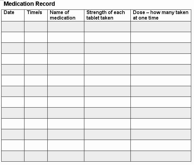 Free Printable Medication Log Template Lovely 7 Best Of Printable Medication Log Sheet